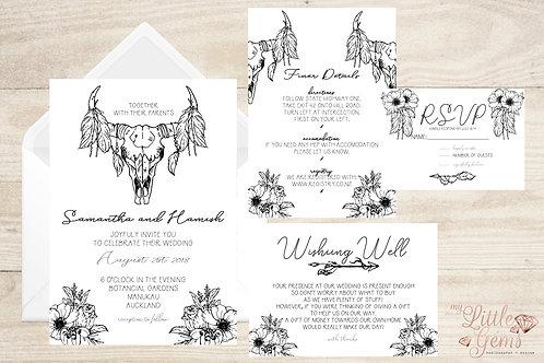 Wedding Stationary - Boho Sketches