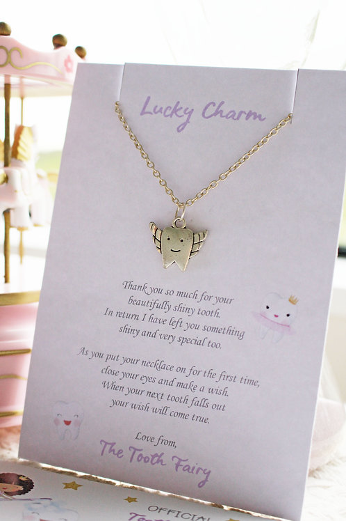 Tooth Fairy Charm Necklace