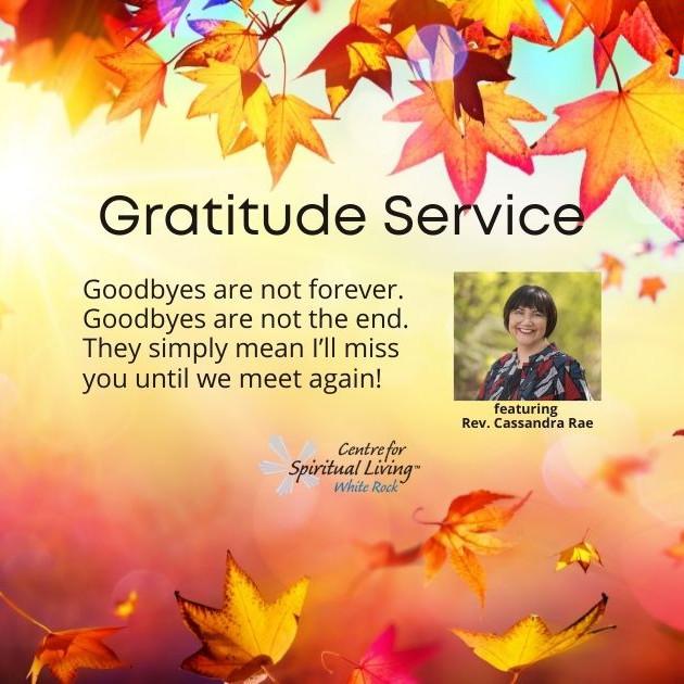 Special Gratitude Service featuring Rev. Cassandra Rae