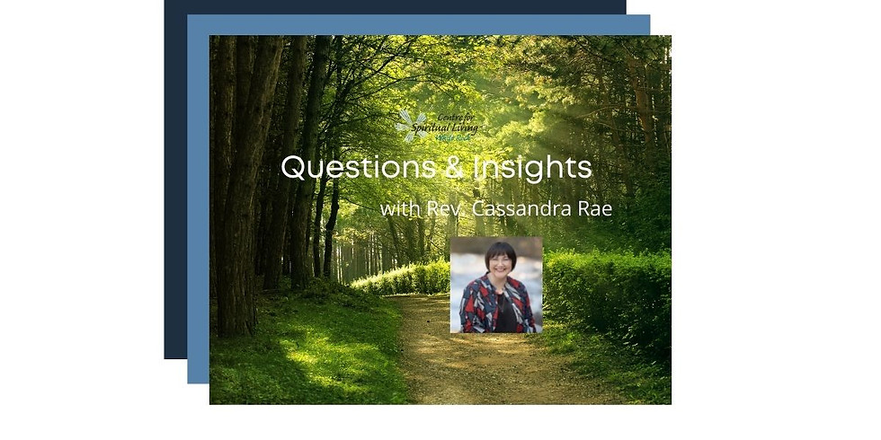 Questions & Insights with Rev. Cassandra Rae - June 21, 2021