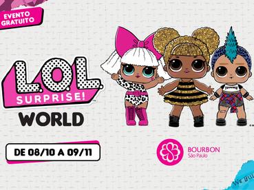 As bonecas L.O.L chegam ao Bourbon São Paulo para um evento muito divertido!