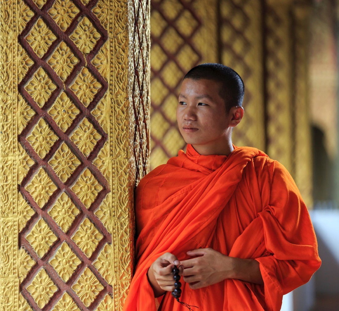 Laos - Luang Prabang - Portrait of a you