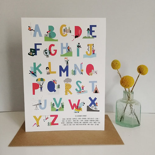 The Outdoorsy Alphabet Card