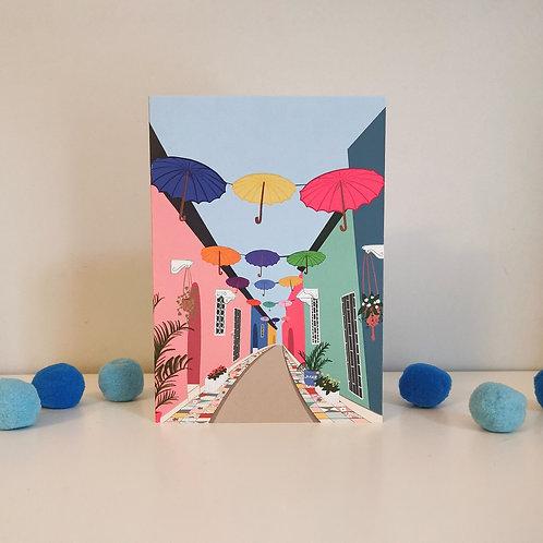 Umbrella Street Card