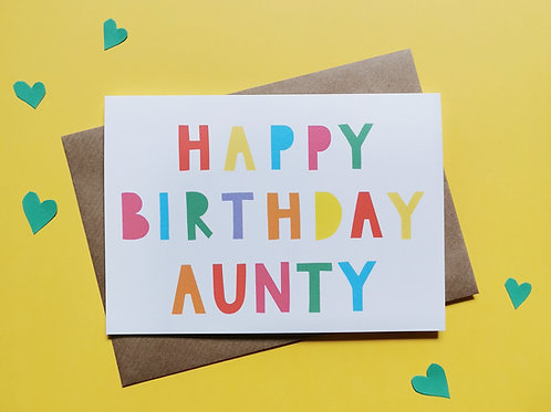 Happy Birthday Aunty Card