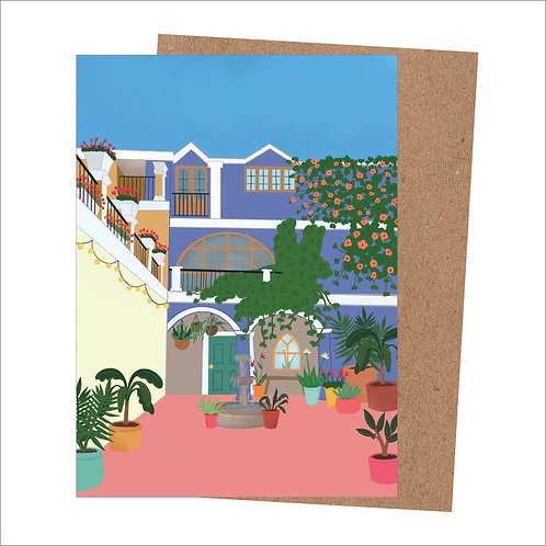 Tropical Courtyard Card