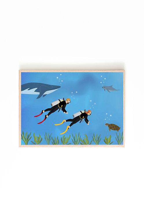 Scuba Diving Print