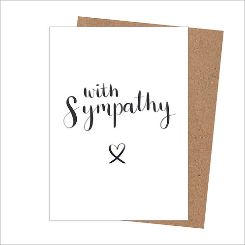 With Sympathy Card (Pack of 6)
