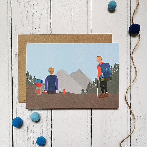 Mountain Hiking Card