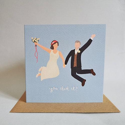 Bride and Groom Wedding Card (Pack 6)