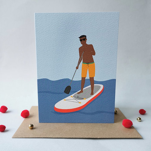 Paddleboard Birthday Card