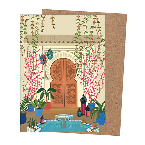 Moroccan Door Card (Pack of 6)
