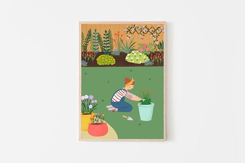 Gardening Print