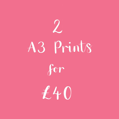 2 A3 Prints for £40