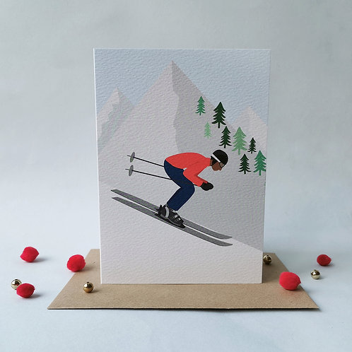 Ski Male Card (Pack 6)