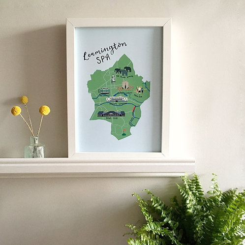 Leamington Spa Map Print