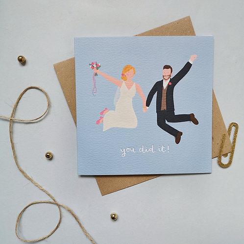 Bride and Groom Card (Pack 6)