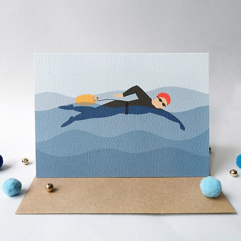 Swimming Birthday Card