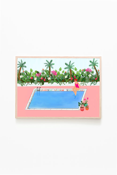 By The Pool Print