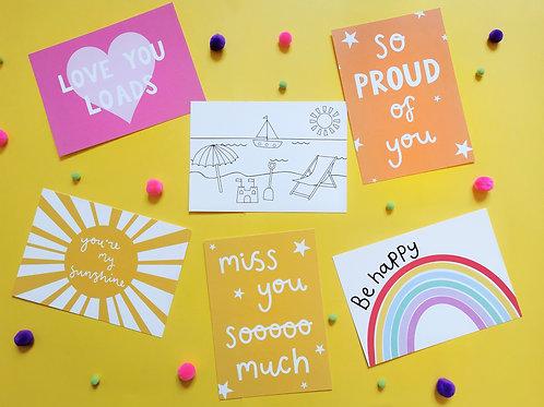 Children's Postcards (Pack of 6)