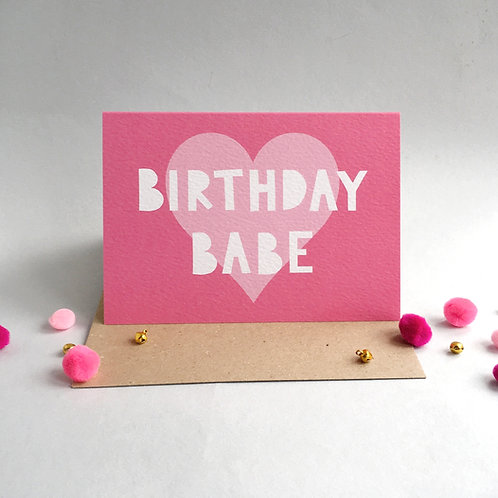 Birthday Babe Card (Pack 6)