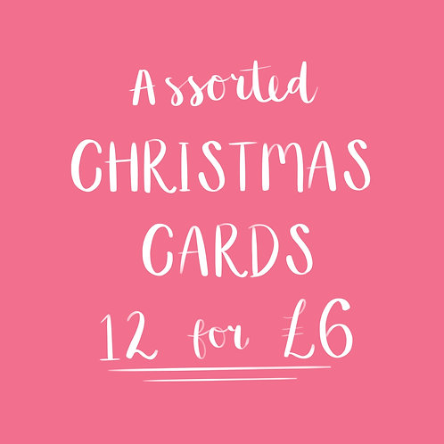 Pack of Christmas Cards - 12 for £6