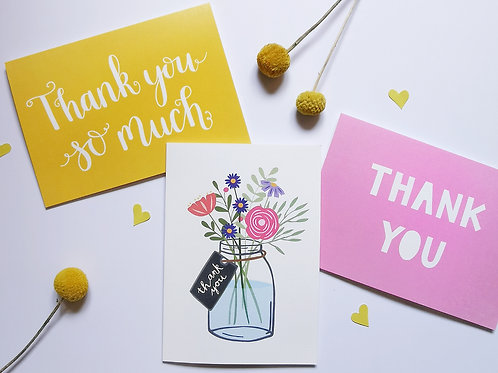 Assorted Thank You Cards Multipack (Pack of 6)