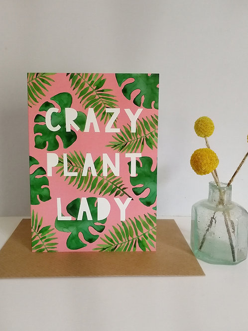 Crazy Plant Lady Card (Pack 6)