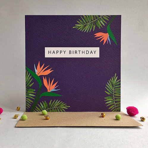 Tropical Birthday Card (Pack 6)