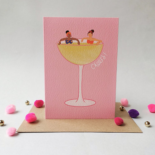 Champagne Card (Pack 6)