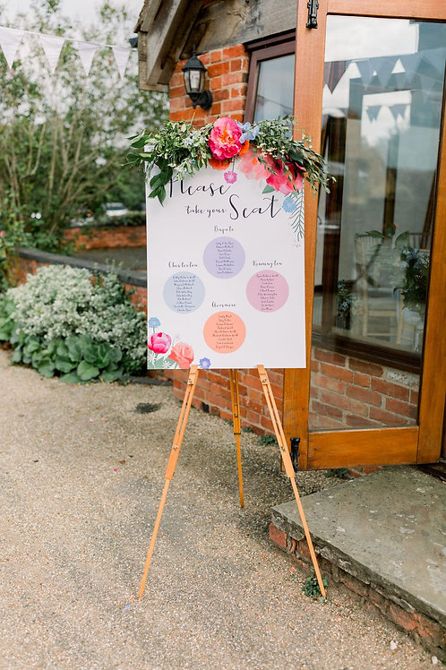Coral Charm Peony Table Plan