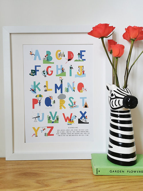 The Outdoorsy Alphabet Print