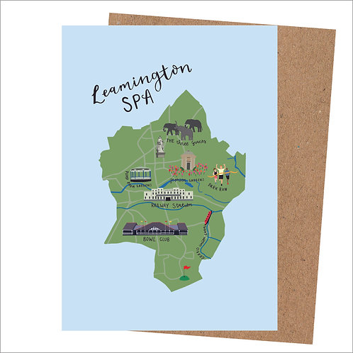 Leamington Spa Map Card