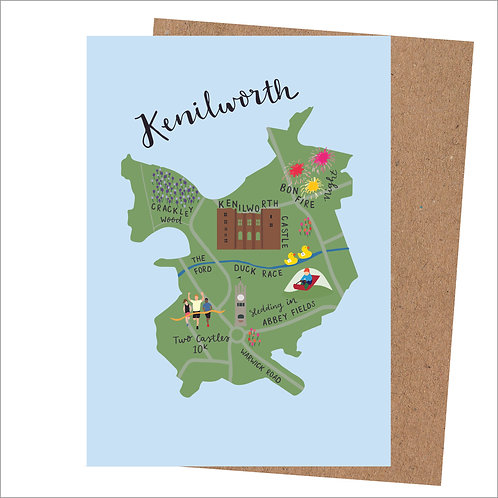 Kenilworth Map Card (Pack 6)
