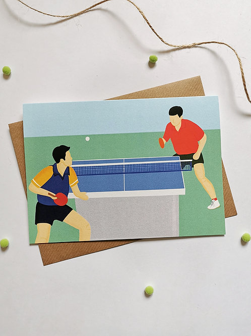 Table Tennis Card