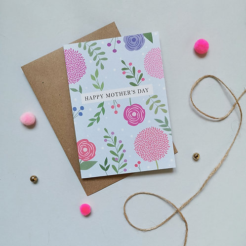 Floral Mother's Day Card (Pack 6)