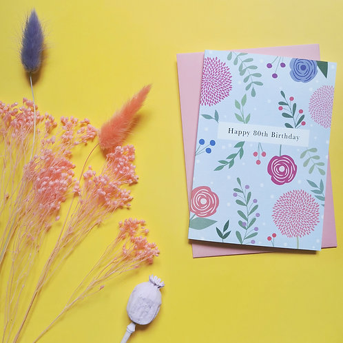 80th Birthday Card (Pack of 6)