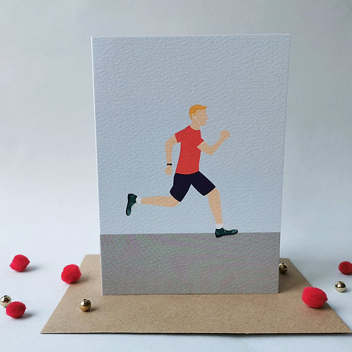 Running Birthday Card