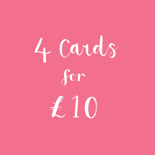 Any 4 Card for £10