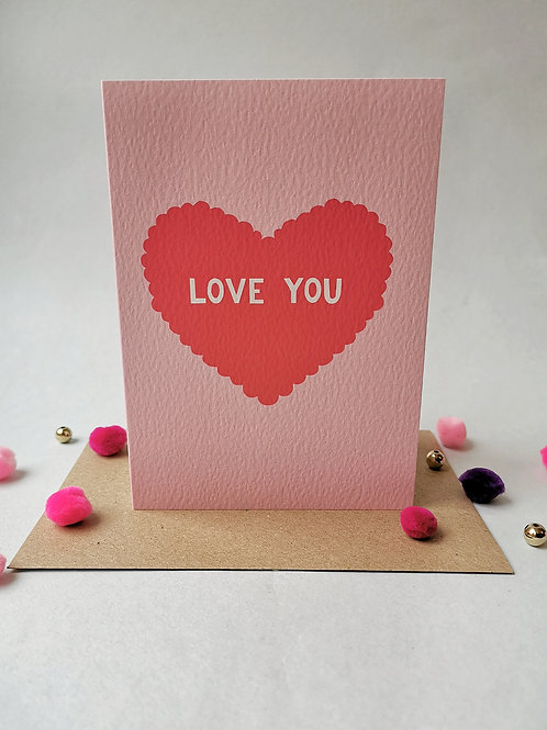 Love You Card (Pack 6)