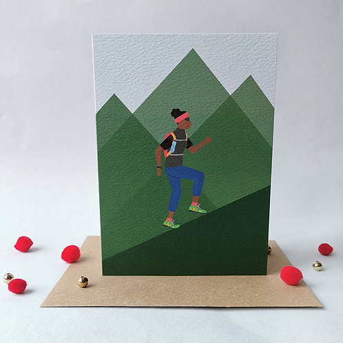 Trail Runner Female Card (Pack 6)
