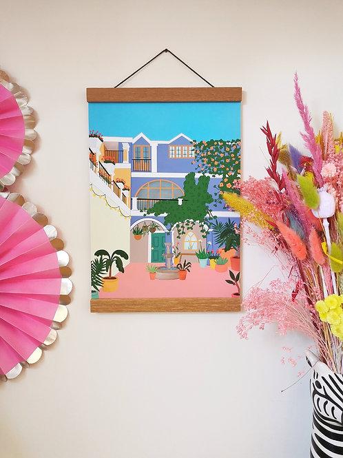 Tropical Courtyard Print