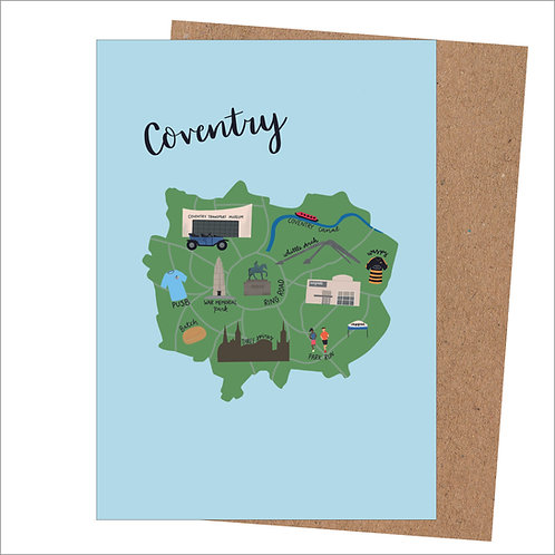 Coventry Map Card