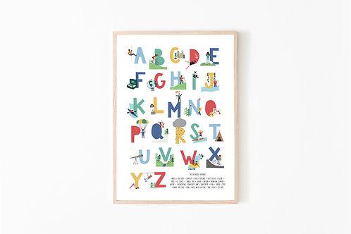 The Outdoorsy Alphabet Print