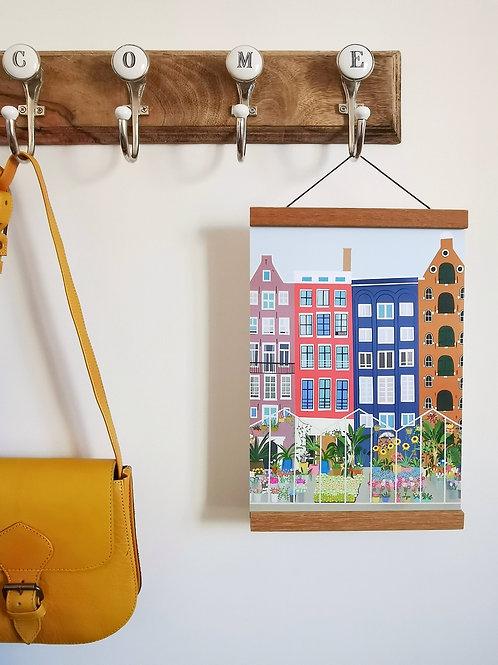 Amsterdam Flower Stall Print