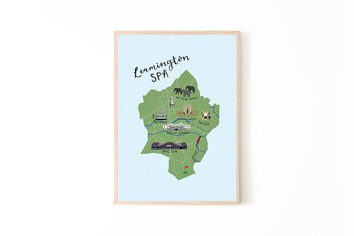 Leamington Spa Map Print