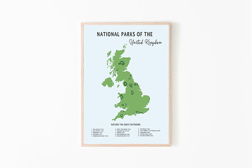 National Parks of the UK Print