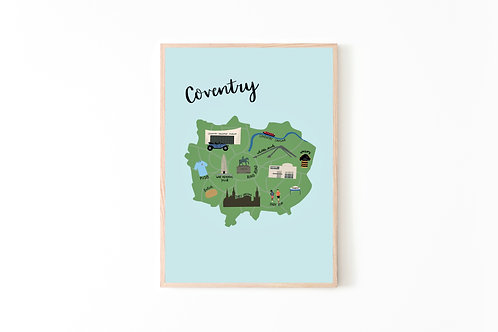 Coventry Map Print