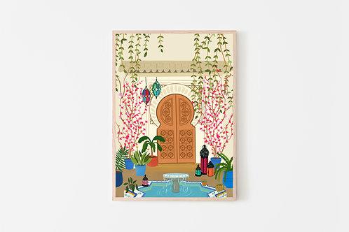 Moroccan Door Print