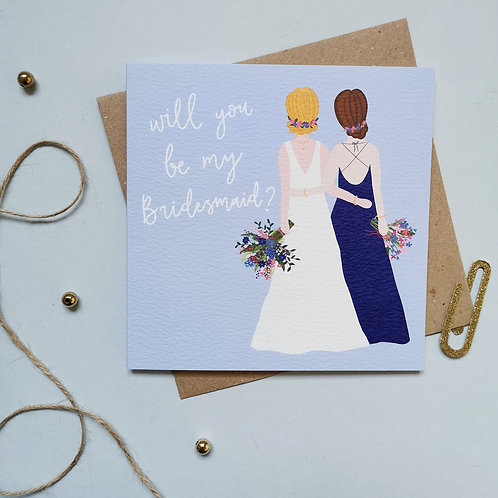Will You Be My Bridesmaid Card (Pack 6)